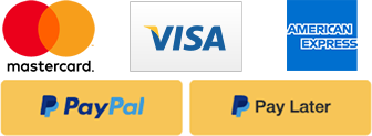Payment Options - Visa, Master Card, PayPal
