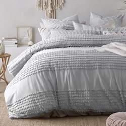 Betty Silver Quilt Cover Set