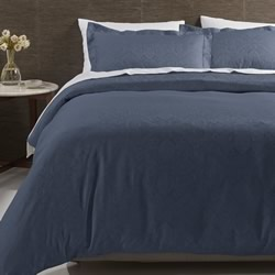 Hotel Navy Jacquard Quilt Cover Set