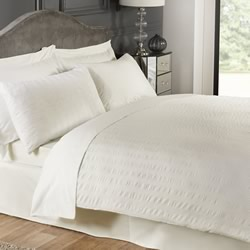 Hotel Seer Sucker Cream Quilt Cover Set