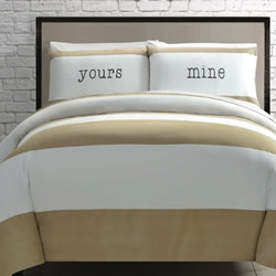 Yours & Mine Cream Quilt Cover Set