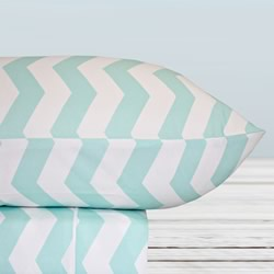 Thermal Flannel Sheet Set Chevron Ice