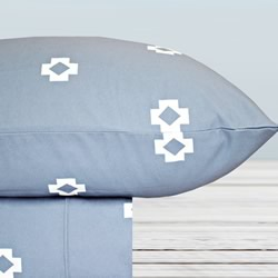 Thermal Flannel Sheet Set Tribal Bay Blue