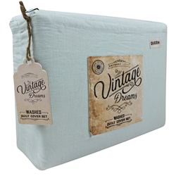 Vintage Dreams Washed Blue Sheet Set