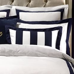Alex Navy European Pillowcase