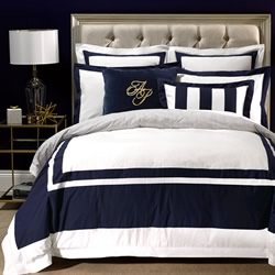 Alex Navy Quilt Cover Set