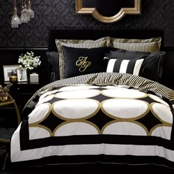 Manhattan Gold Quilt Cover Set