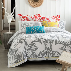 Diaz Dove Grey Quilt Cover Set