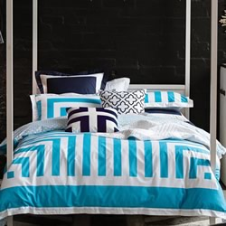 Lexy Cyan Quilt Cover Set