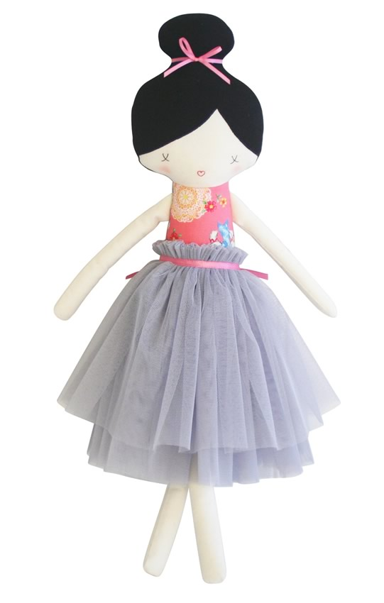 Amelie Pink And Grey Doll