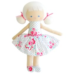 Audrey Bow And Roses Blue Doll