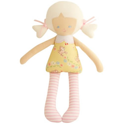 Baby Martha Yellow Fawn Doll Rattle