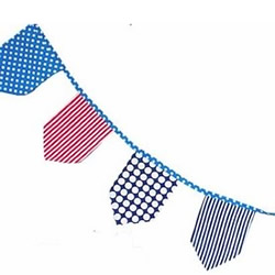 Blue & Red Stripe Bunting