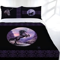Black Unicorn Quilt Cover Set