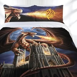 Dragon Fury Quilt Cover Set
