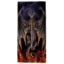 Dragon Warrior Beach Towel