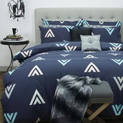 Asta Navy Quilt Cover Set