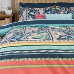 Gypsy Navy Quilt Cover Set