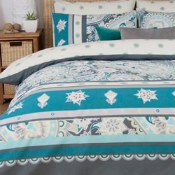 Janis Steel Quilt Cover Set