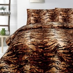 Tiger Micromink Quilt Cover Set
