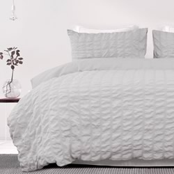 Albany Silver Seersucker Quilt Cover Set