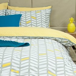 Banyan Grey Quilt Cover Set