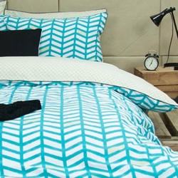 Banyan Teal Quilt Cover Set