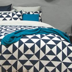Blaine Navy Quilt Cover Set