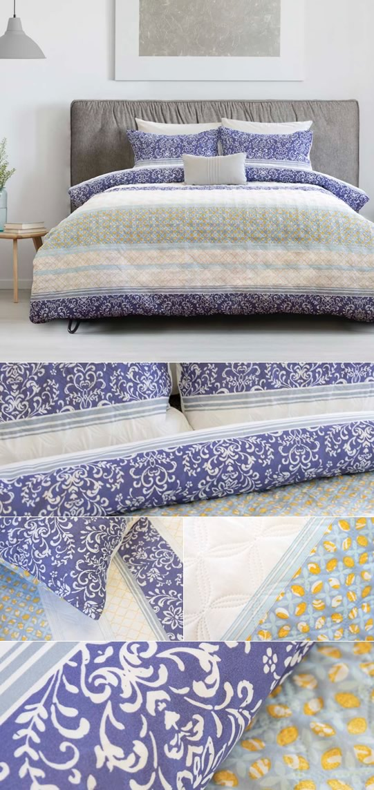 Elise Quilted Quilt Cover Set By Ardor Cottonbox