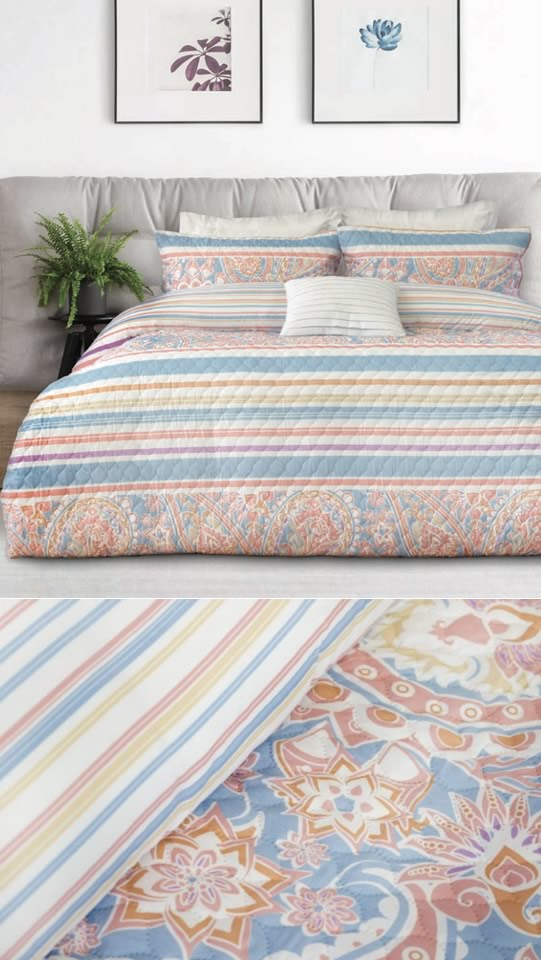 Ashley Quilted Embossed Quilt Cover Set