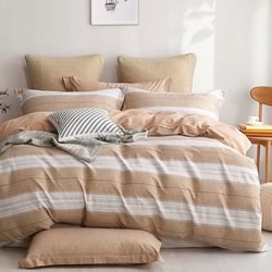 Henley Sand Quilt Cover Set