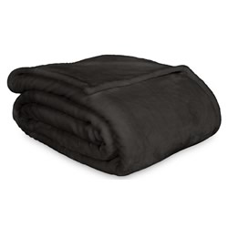 Lucia Charcoal Luxury Plush Velvet Blanket