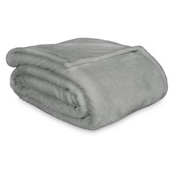 Lucia Silver Luxury Plush Velvet Blanket