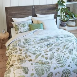 Botanique Green Quilt Cover Set