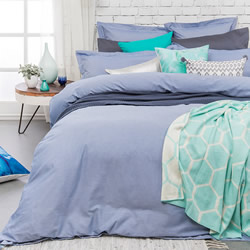 Charleston Blue Quilt Cover Set