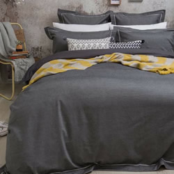 Charleston Charcoal Quilt Cover Set