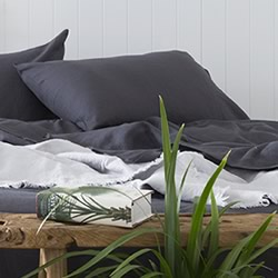 French Linen Charcoal Sheet Set