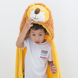 Hooded Throw Lion