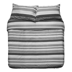 Indiana Grey Commercial Quilt Cover Set