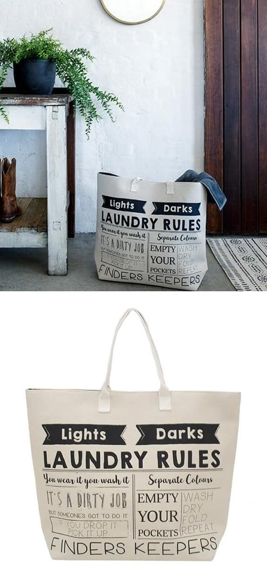 Laundry Rules Bag
