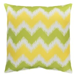 Outdoor Cushion Chevron Lime Yellow