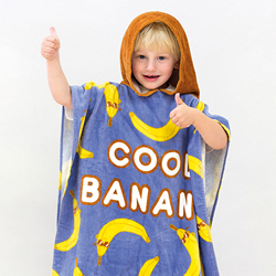 Kids Poncho Pal Cool Banana