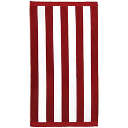 Stripe Red Beach Towels