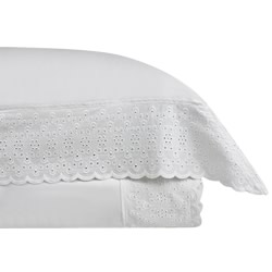 Chelsea Lace White Quilt Cover Set