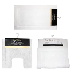 Modena Luxury White Bath Mats