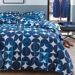 Alster Blue Quilt Cover Set