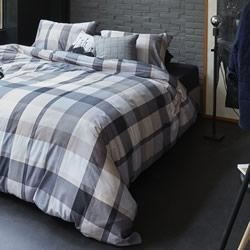 Andes Grey Quilt Cover Set