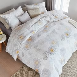 Bora White Quilt Cover Set