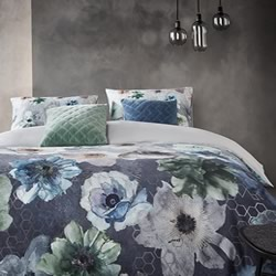 Composer Blue Grey Quilt Cover Set