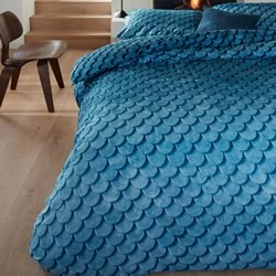 Layered Tones Blue Quilt Cover Set